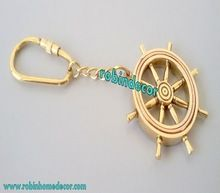 Brass Wheel Key Chain