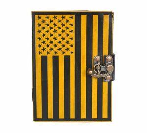 Handmade American Flag Embossed Notebook Planner