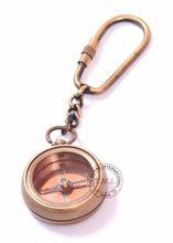 Brass Antique Compass Keychain