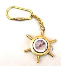 Brass Nautical Keychain