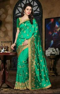 Dupion Silk Embroidered Saree