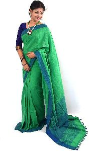 Handloom Plain Soft Cotton Saree