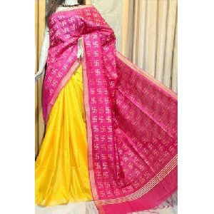 Ladies Trendy Linen Saree