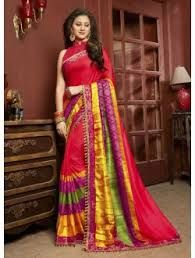 Party Wear Printed Linen Saree