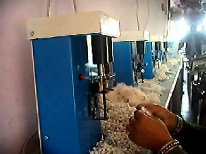 Semi Automatic Round Cotton Wicks Making Machine