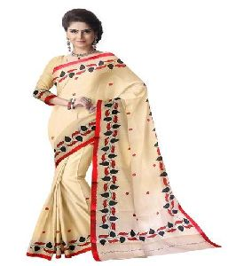 Chanderi Embroidered Sarees