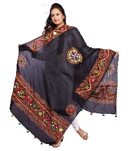 Cotton Embroidered Dupatta