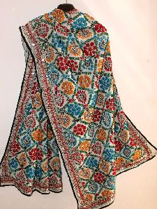 Georgette Embroidered Dupatta