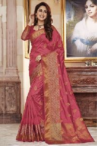 Georgette Silk Embroidered Sarees