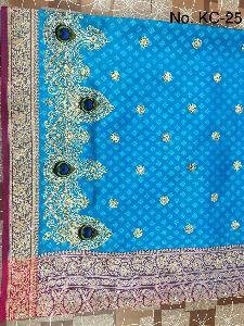 Nylon Kaju Buti Embroidered Sarees