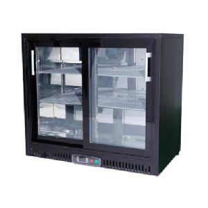 196l 2 Sliding Doors Fancooling Bar Refrigerator