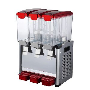30L Triple Heads Combination Type Cold Drink Dispenser With Lights