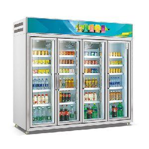5 Doors Assembling Combination Type Fancooling Refrigerator Beverage Showcase