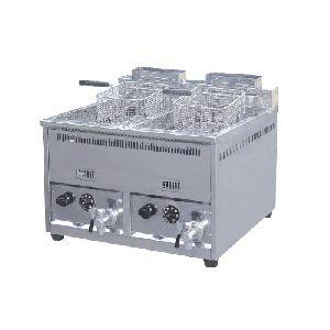 Counter Top Gas 2-Tank 2-Basket Fryer