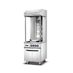 Single Row Gas Shawarma Machine Cabinet