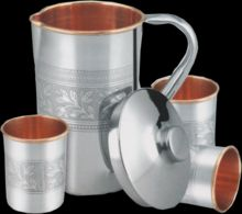 Steel Copper Embossed Lemon Set