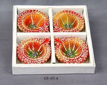 Flower Color Diya Gel Candle