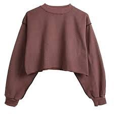 Cut Brown Fleece Pullover