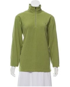 Cut Green Fleece Pullover