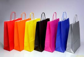 Colored Paper Carry Bags