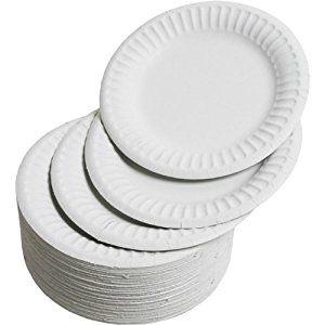 Disposable Plain Paper Plates