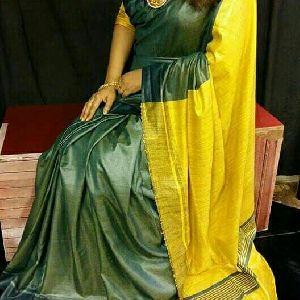 Tussar Ghicha Cotton Silk Saree