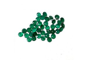 Natural 6mm Green Onyx Faceted Round Stone