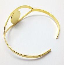 Gold Tone Cuff Bracelet Jewelry