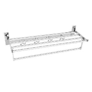 Stainless Steel Designer Towel Rack
