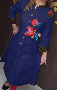 Ladies Embroidered A Line Kurti