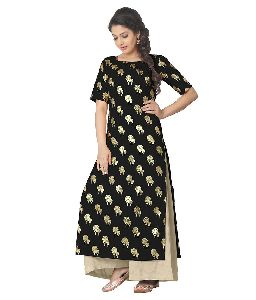 Ladies Printed Straight Kurti