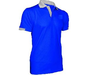 Men Blue Polo T-shirt