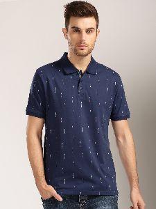 Men Printed Collar T-shirt