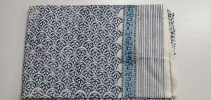 2.5 meter Flower fabric Hand block Printed Cloth Cotton Fabric