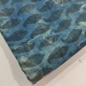 2.5 meter indigo block Umbrella Printed Fabric
