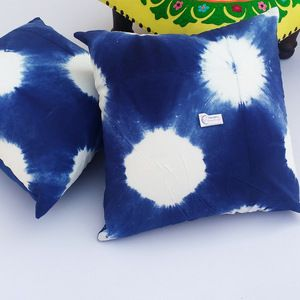 2 Pcs Hand Made Tie Dyed Home Decorative Pillow Cases
