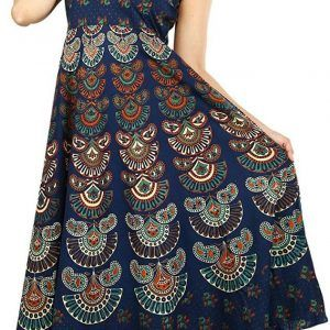 Cotton Long Free Size Mandala Maxi Dress