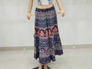 Hippie Gypsy Mandala Cotton Long Skirt Rapron