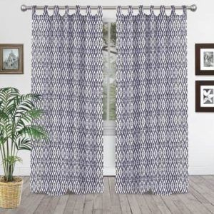 Indian Hand Block Printed Cotton Shower Curtain