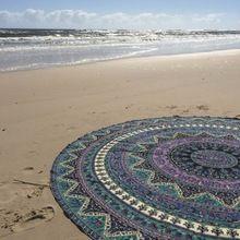 Mandala Beach Throw Yoga Mat