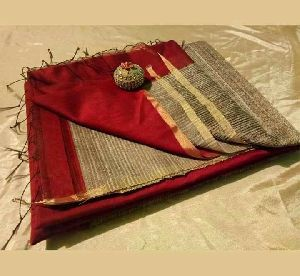 Silk Cotton Designer Kosa Saree