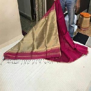 Silk Cotton Gicha Pallu Designer Saree