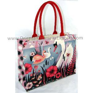Full Color Digitally Printed Fashion Canvas Bag