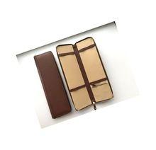 Genuine Leather Brown Tie Case
