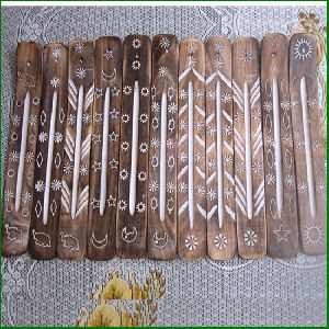 Brass Inlay Wooden Incense Stick