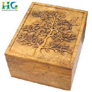 Mini Wooden Bangle Box In Antique Look