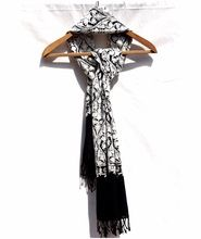 Elegant Black Soft Lambswool Shawl Stole