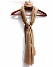 Elegant Brown Soft Pashmina Wool Winter Stole Shawl