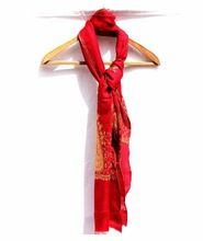 Elegant Red Lambswool Hand Embroidered 100% Kashmir Wool Handcrafted Stole