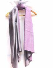 Exquisite Handwoven Indian Handicraft Soft Lambswool Dual Color Shawl